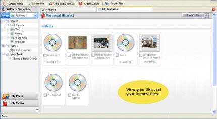AllPeers Screenshot