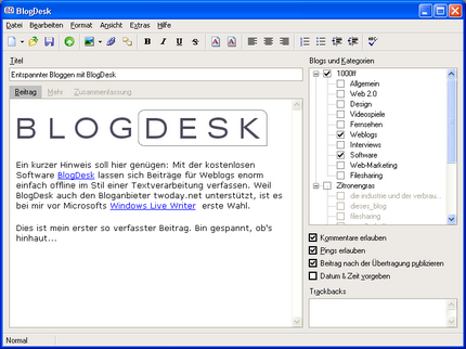 blogdesk screenshot