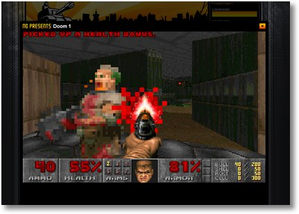 Screenshot: Doom als Flashgame