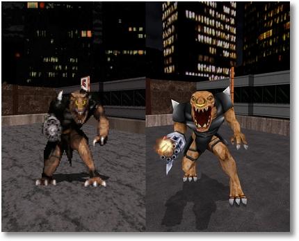 Duke Nukem 3D: Vergleich zwischen Original und High Resolution Pack