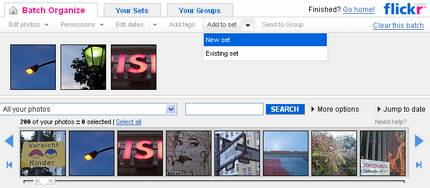 Flickr Organize Screenshot