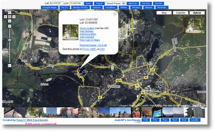 google maps in flickr screenshot