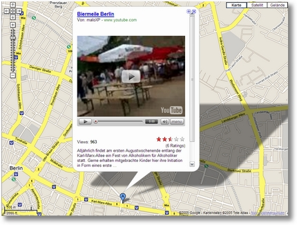 Google Maps mit Video