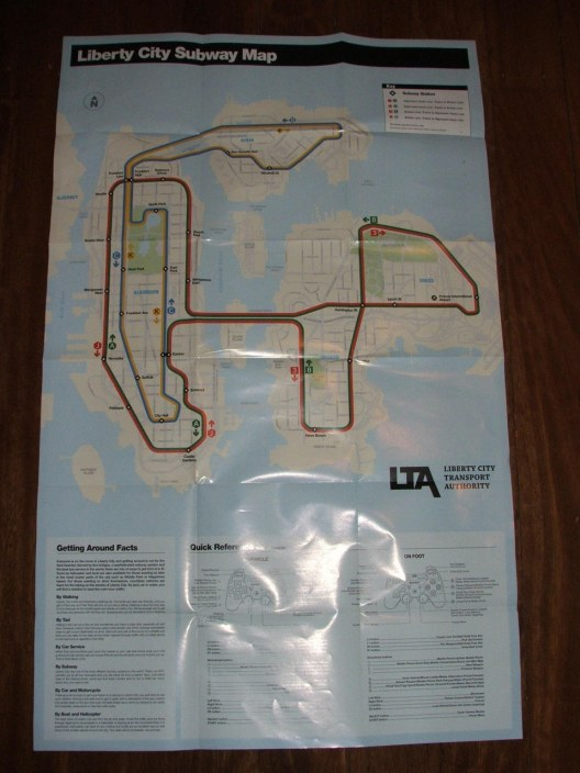 GTA IV Street Map