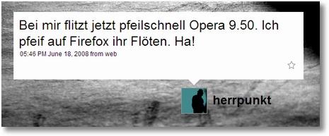.markus zum Thema Firefox vs. Opera