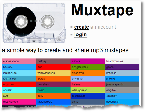 muxtape.com Screenshot