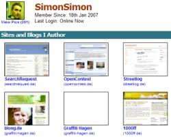 MyBlogLog - Alle Seiten auf einen Blick