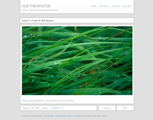 Nishita-Theme Fotoblog