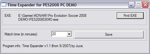 Demo-Expander für Pro Evolution Soccer 2008