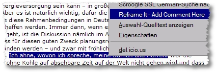 Kommentar mit Reframe It