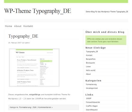 Typography_DE - so schön kann WordPress sein